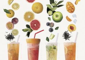 Kyoto&GreenApple Fruit Soda 巨峰&青リンゴフルーツ ティーソーダ¥650 (税別)