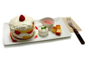 いちご スフレパンケーキ - Strawberry pancake -950円(税別)